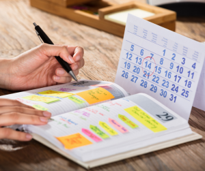 Being able to meet deadlines and plan activities is the key point to the management of one's own energies and reducing stress.